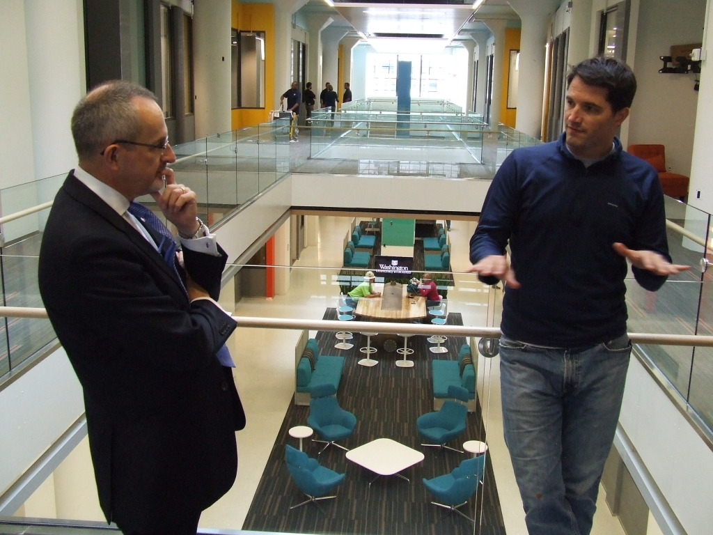 Donnie Jack tours CIC St. Louis and talks with Dougan Sherwood