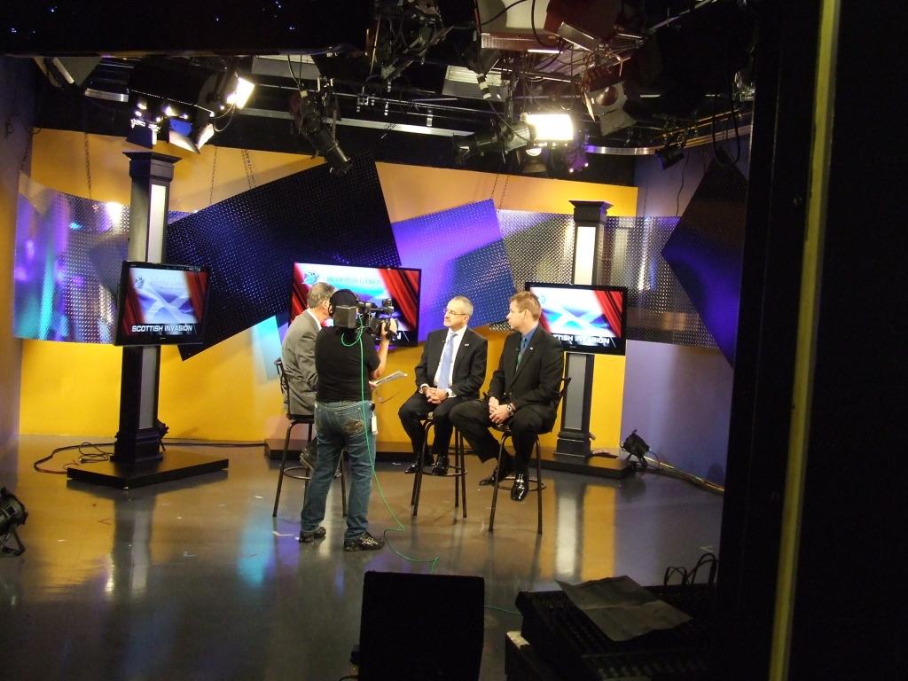 Talking about Scotland on Fox 2